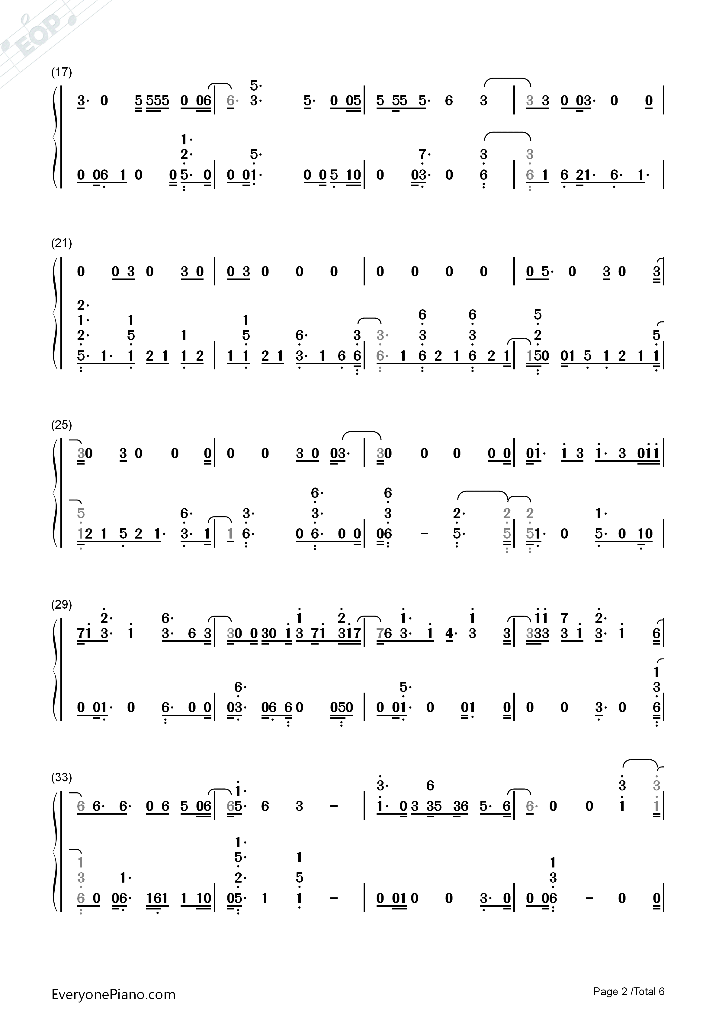Hey Hey Hey-Katy Perry Numbered Musical Notation Preview 2
