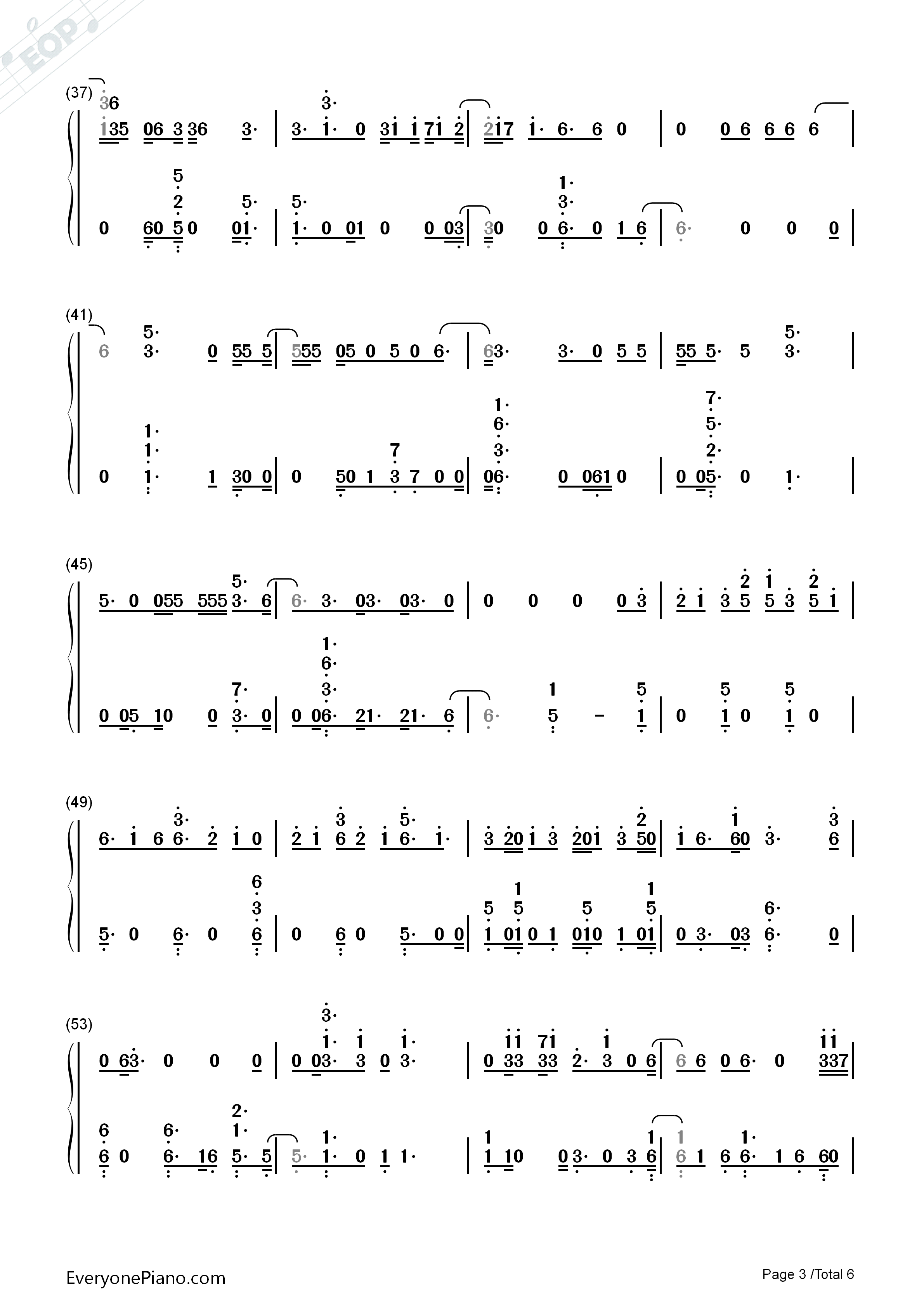 Hey Hey Hey-Katy Perry Numbered Musical Notation Preview 3