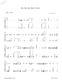 Hey Hey Hey-Katy Perry-Numbered-Musical-Notation-Preview-1