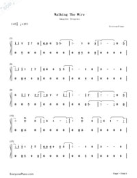 Walking the Wire-Imagine Dragons-Numbered-Musical-Notation-Preview-1
