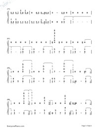 Welcome to My Life-Chris Brown-Numbered-Musical-Notation-Preview-5