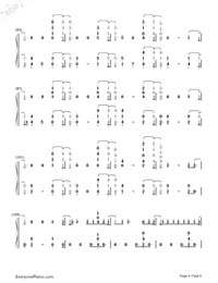 Welcome to My Life-Chris Brown-Numbered-Musical-Notation-Preview-6