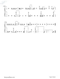 Welcome to My Life-Chris Brown-Numbered-Musical-Notation-Preview-8