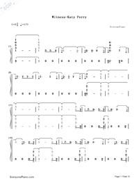 Witness-Katy Perry-Numbered-Musical-Notation-Preview-1