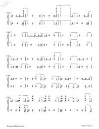 Witness-Katy Perry-Numbered-Musical-Notation-Preview-6