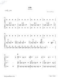 Abandon-Stefanie Sun-Numbered-Musical-Notation-Preview-1