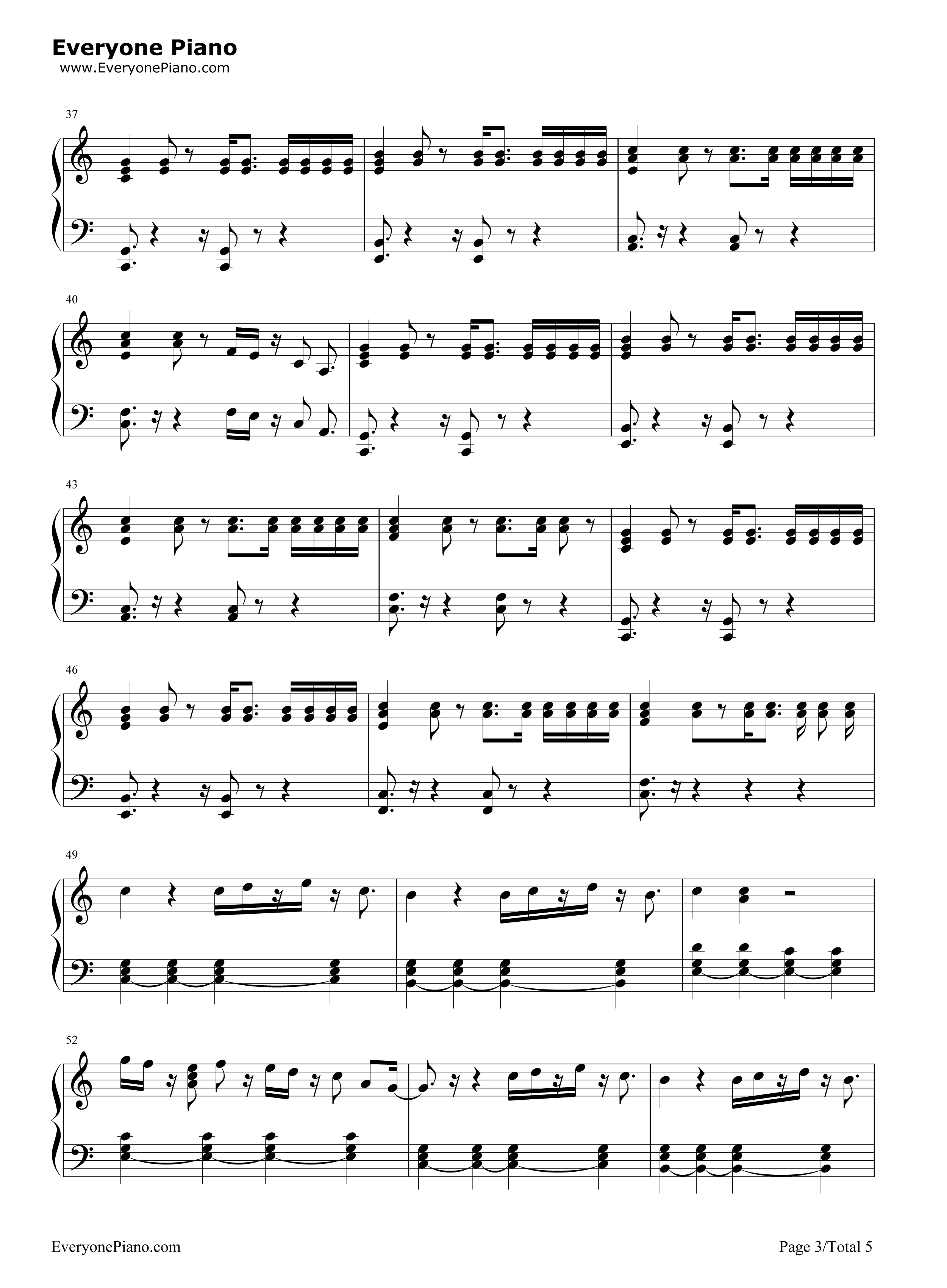 empty piano sheet music