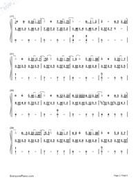 可惜沒如果-彈唱版雙手簡譜預覽2