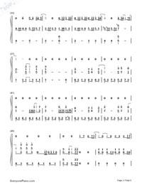 可惜沒如果-彈唱版雙手簡譜預覽3