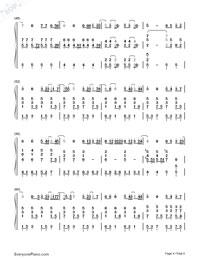 可惜沒如果-彈唱版雙手簡譜預覽4