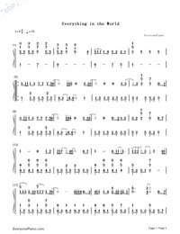 Everything In The World-Wanting Qu-Numbered-Musical-Notation-Preview-1