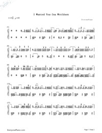 I Wanted You-Ina Wroldsen-Numbered-Musical-Notation-Preview-1