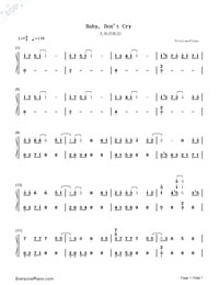 Baby, Don't Cry-EXO-Numbered-Musical-Notation-Preview-1