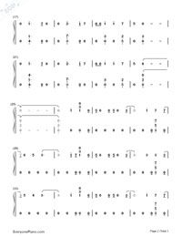 Hands Of Gold-Game of Thrones OST-Numbered-Musical-Notation-Preview-2