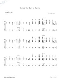 Heatstroke-Calvin Harris-Numbered-Musical-Notation-Preview-1