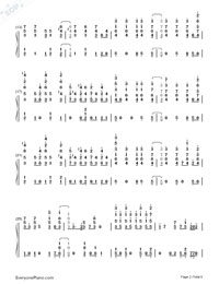Heatstroke-Calvin Harris-Numbered-Musical-Notation-Preview-2