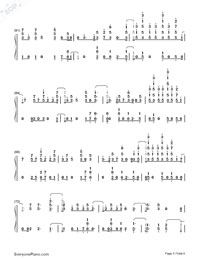 Heatstroke-Calvin Harris-Numbered-Musical-Notation-Preview-5