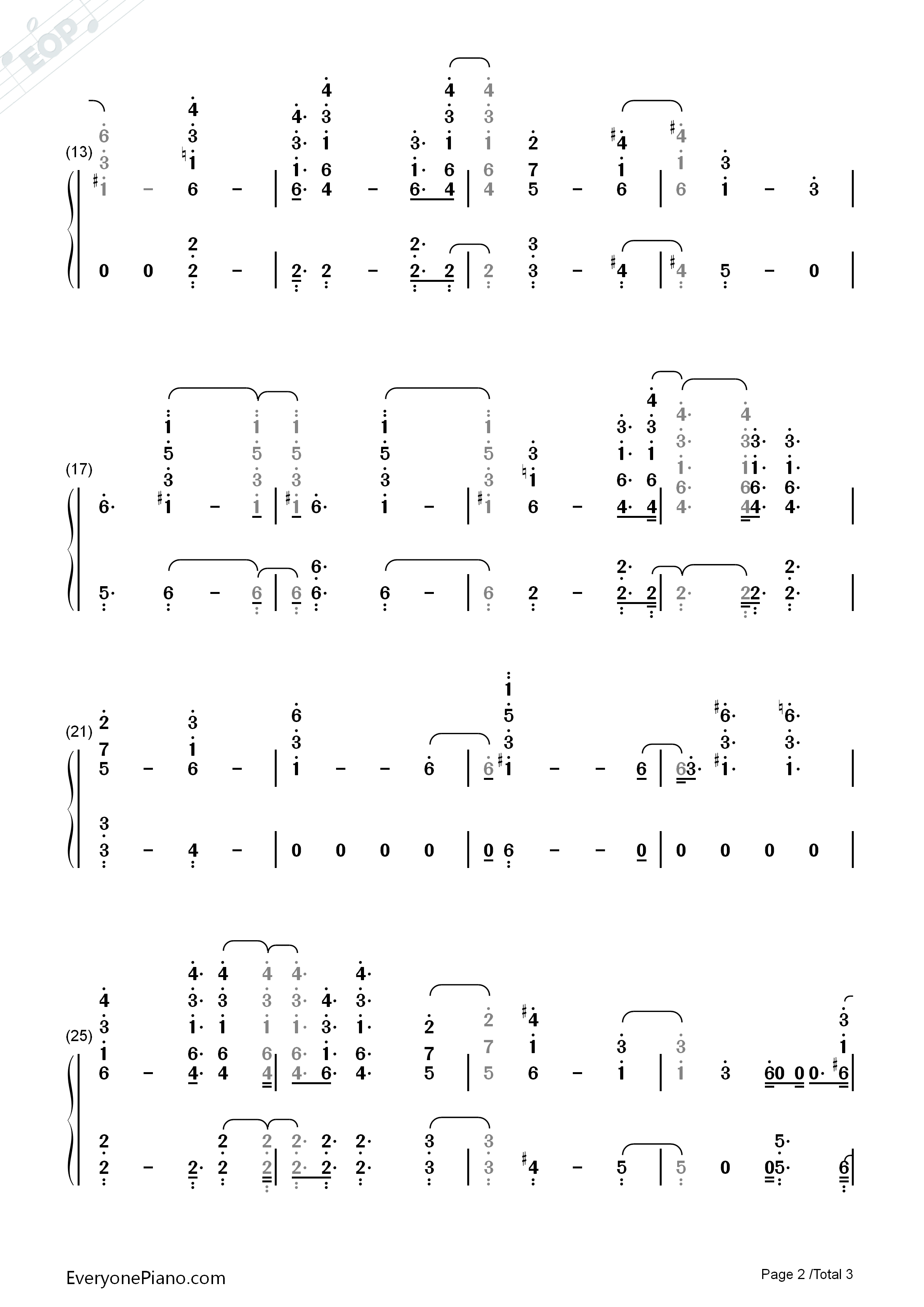 Black SpiderMan-Logic Numbered Musical Notation Preview -EOP