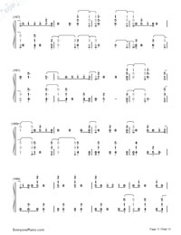 First Time-Kygo and Ellie Goulding Numbered Musical Notation Preview 11