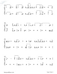 First Time-Kygo and Ellie Goulding Numbered Musical Notation Preview 4