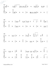 First Time-Kygo and Ellie Goulding Numbered Musical Notation Preview 5