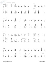 First Time-Kygo and Ellie Goulding Numbered Musical Notation Preview 6