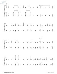 First Time-Kygo and Ellie Goulding Numbered Musical Notation Preview 7