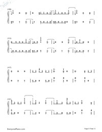 First Time-Kygo and Ellie Goulding Numbered Musical Notation Preview 8