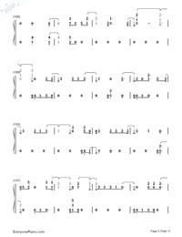 First Time-Kygo and Ellie Goulding Numbered Musical Notation Preview 9