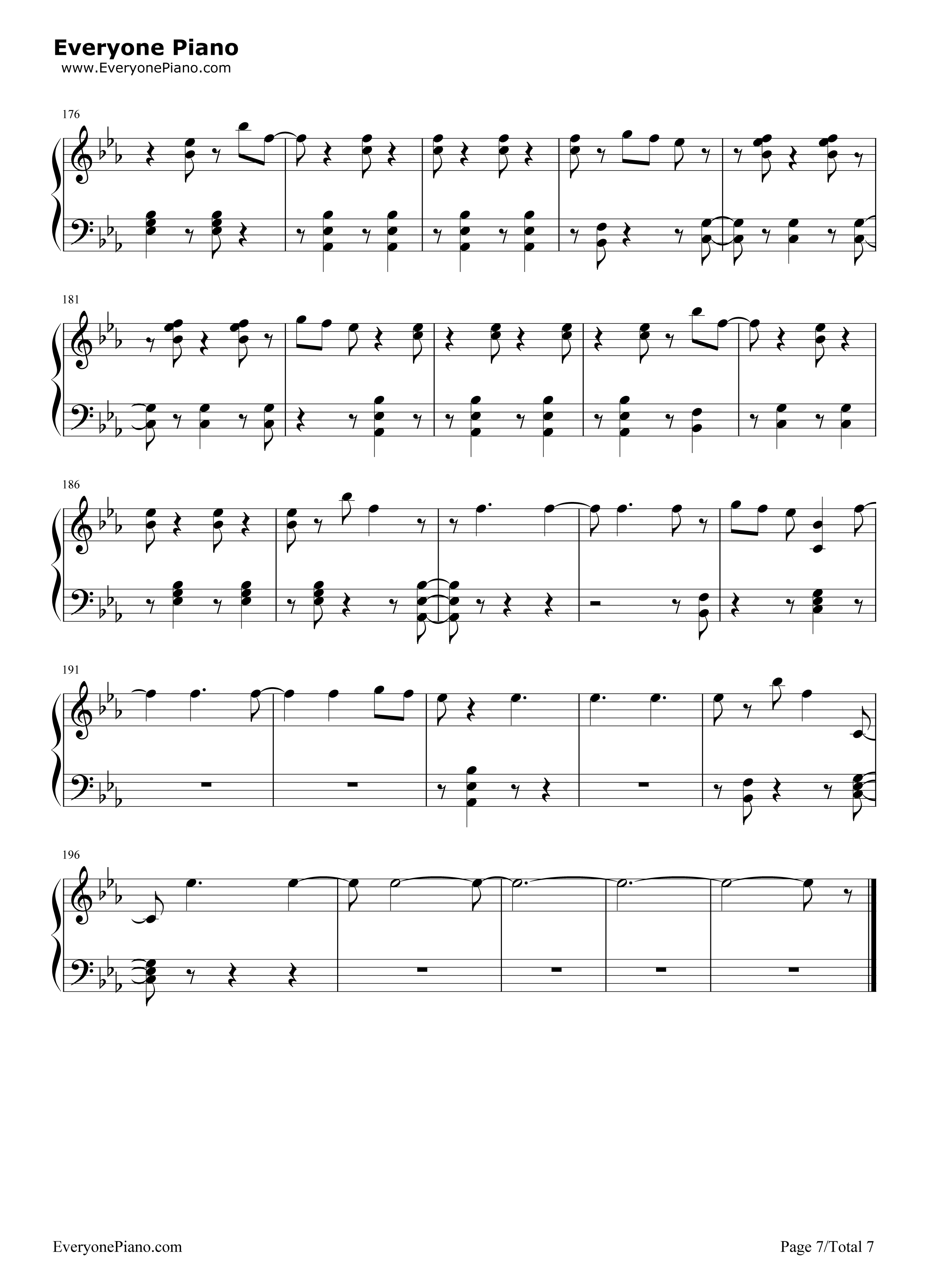 First time kygo and ellie goulding free piano sheet music piano first time kygo and ellie goulding stave preview 7 hexwebz Images