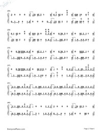 Hard Times-Paramore-Numbered-Musical-Notation-Preview-2