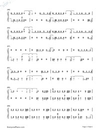 Hard Times-Paramore-Numbered-Musical-Notation-Preview-3