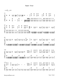 Super Star-S.H.E-Numbered-Musical-Notation-Preview-1