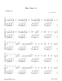 What About Us-P!nk Numbered Musical Notation Preview 1