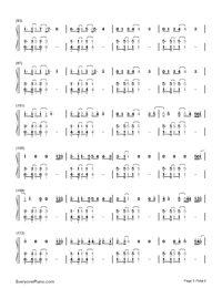 What About Us-P!nk Numbered Musical Notation Preview 5