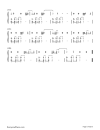 What About Us-P!nk Numbered Musical Notation Preview 6
