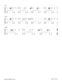 Uchiage Hanabi Numbered Musical Notation Preview 5
