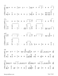Sorry Not Sorry-Demi Lovato-Numbered-Musical-Notation-Preview-2