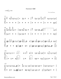 Forever-EXO-Numbered-Musical-Notation-Preview-1