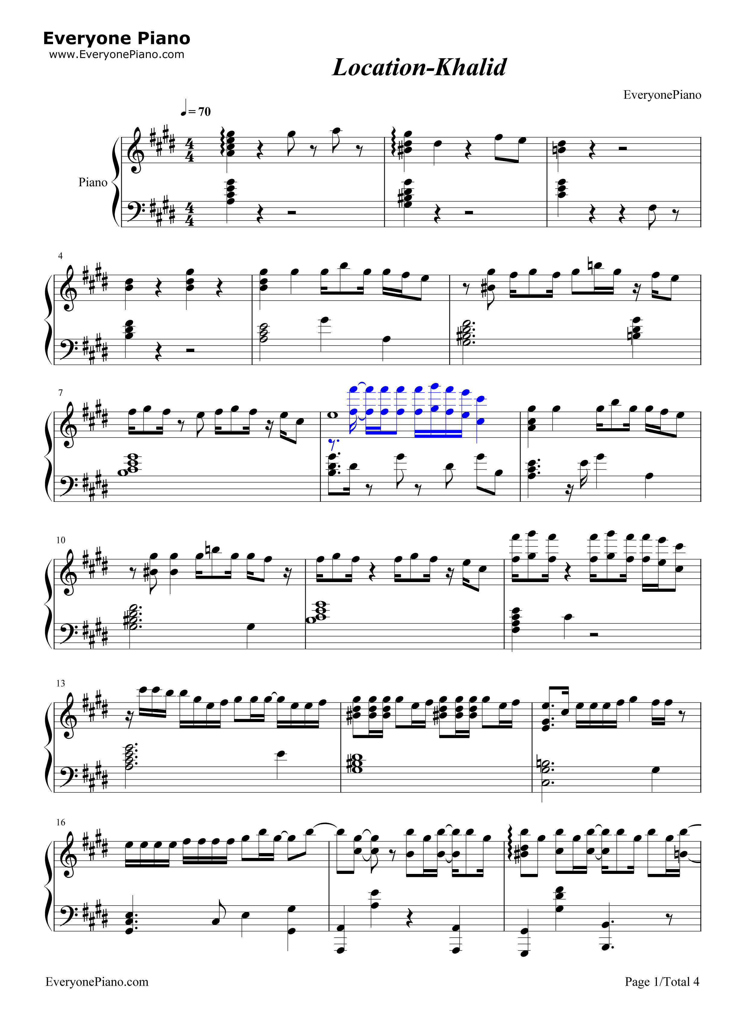 Location khalid stave preview 1 free piano sheet music piano chords listen now print sheet location khalid stave preview 1 hexwebz Gallery