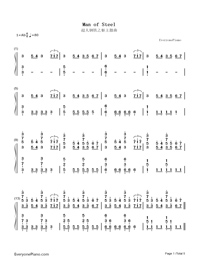 Man of Steel-Numbered-Musical-Notation-Preview-1