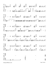 Wind From the Far East-LaTale BGM-Numbered-Musical-Notation-Preview-2