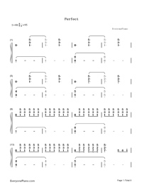 Perfect-Ed Sheeran-Numbered-Musical-Notation-Preview-1