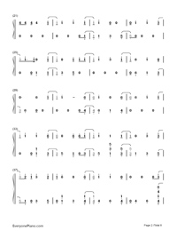 Thunder-Imagine Dragons Numbered Musical Notation Preview 2