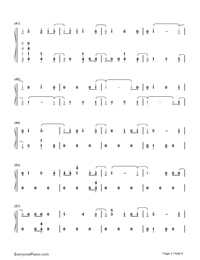 Thunder-Imagine Dragons-Numbered-Musical-Notation-Preview-3