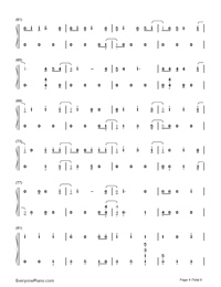Thunder-Imagine Dragons Numbered Musical Notation Preview 4