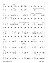 Thunder-Imagine Dragons Numbered Musical Notation Preview 6