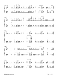 Thunder-Imagine Dragons Numbered Musical Notation Preview 7