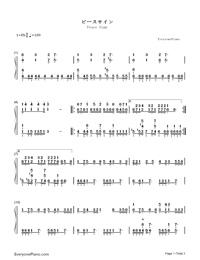 Peace Sign-My Hero Academia OP Free Piano Sheet Music
