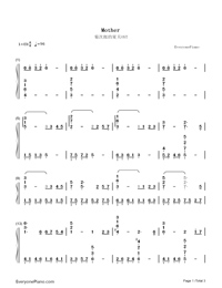 Mother-Kikujiro OST-Numbered-Musical-Notation-Preview-1